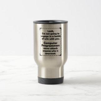 Battle of Wits Computer Programmer Travel Mug