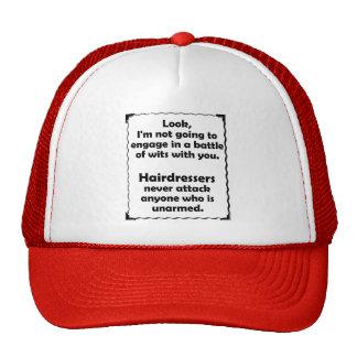 Battle of Wits Hairdresser Mesh Hats