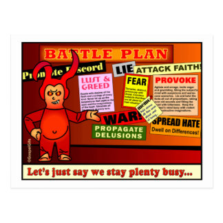 Battle Plan Christian Gift Postcard