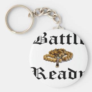 Battle Ready Basic Round Button Keychain