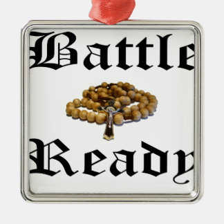 Battle Ready Metal Ornament