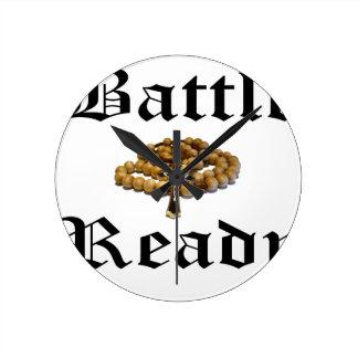 Battle Ready Round Clock