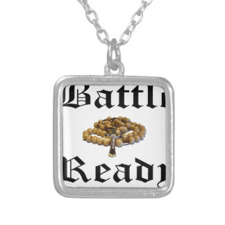 Battle Ready Silver Plated Necklace