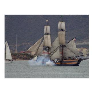battle-reenactment-at-the-san-deigo-maritime-museu postcard