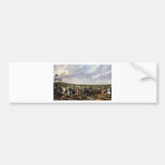 Battle scene in an open landscape bumper sticker