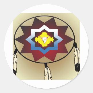 Battle Shield Round Sticker