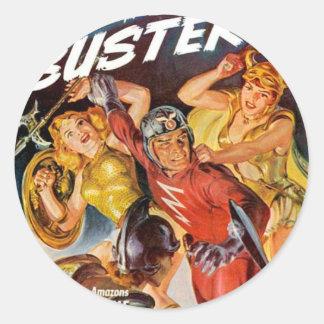 Battle Women Classic Round Sticker