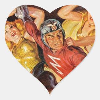 Battle Women Heart Sticker