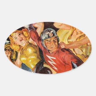 Battle Women Oval Sticker