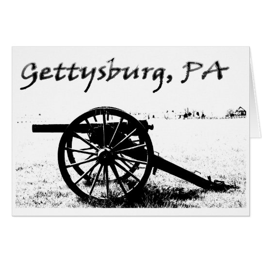 Battlefield of Gettysburg Card