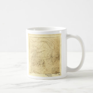 Battlefields of Manassas Map July 21st 1861 Coffee Mug
