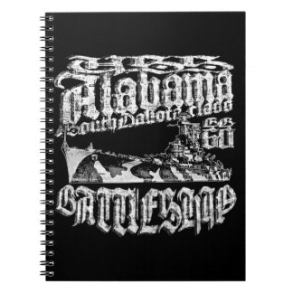 Battleship Alabama Spiral Photo Notebook