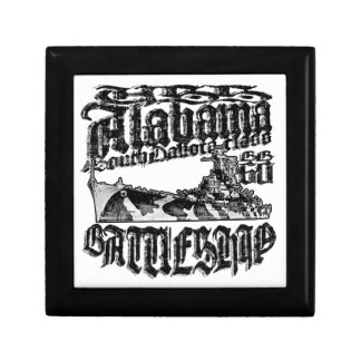 Battleship Alabama Wooden Jewelry Keepsake Box