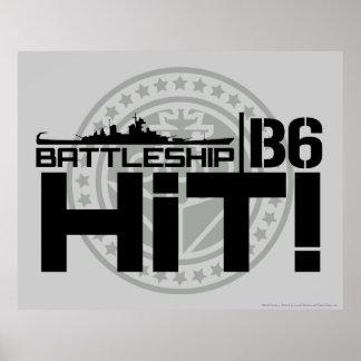 Battleship B6 Hit 2 Poster