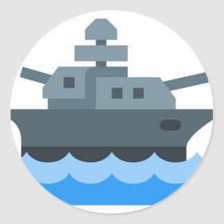 Battleship Classic Round Sticker