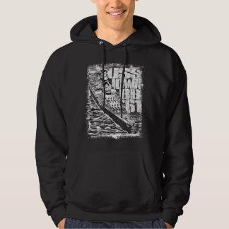 Battleship Iowa Men's Basic Hooded Sweatshirt