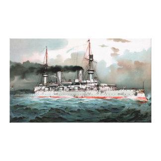 "Battleship Kaiser Wilhelm II 26""x44"" Canvas Print"