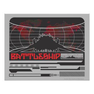 Battleship Naval 7 Poster