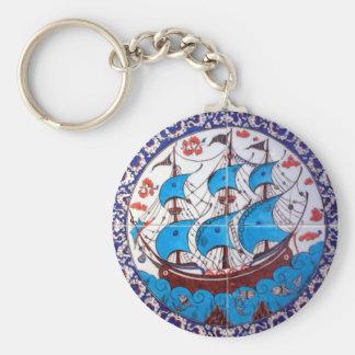 Battleship Pattern / Tile Art Keychain