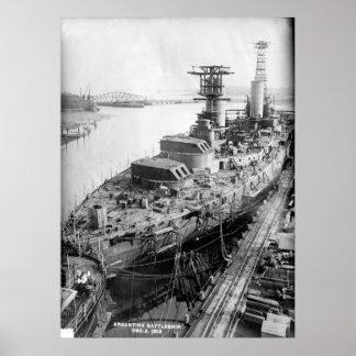 Battleship Rivadavia Poster