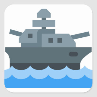 Battleship Square Sticker
