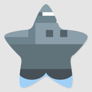 Battleship Star Sticker