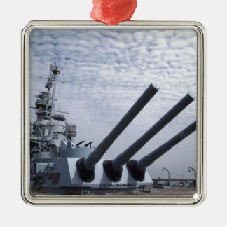 Battleship USS Alabama Metal Ornament