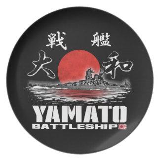 Battleship Yamato Plate Melamine Plate
