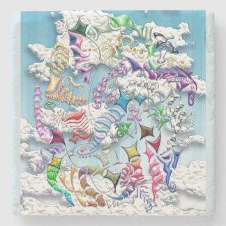 Battling Kites -- Blue Stone Coaster