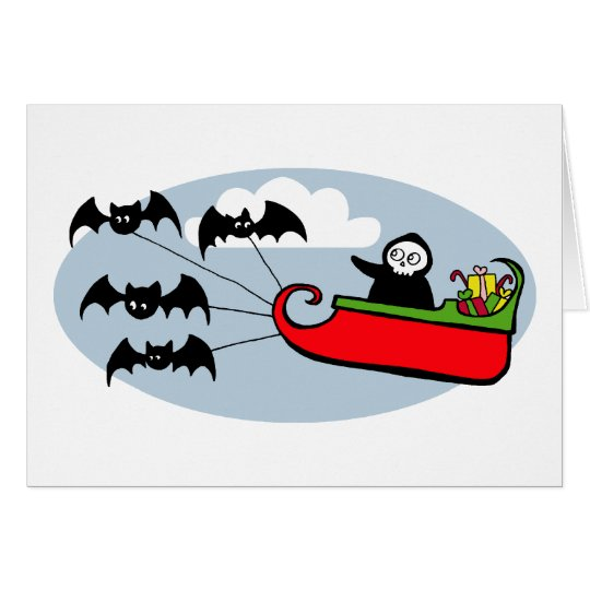 Batty Christmas Sleigh Card