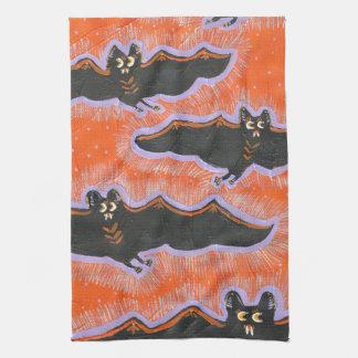 Batty Flight Halloween Kitchen Towel