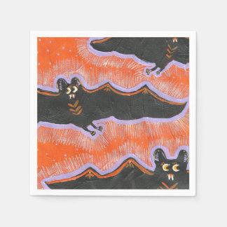 Batty Flight Halloween Paper Napkins