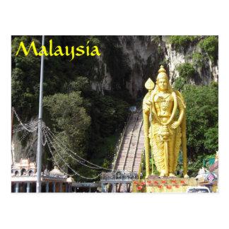 Batu Caves Statue Malaysia Postcard