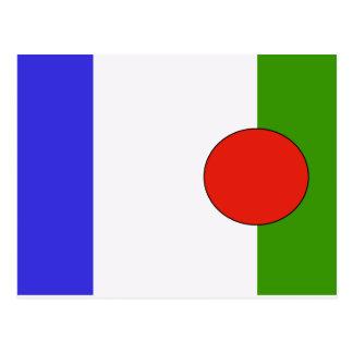 Batwa People, ethnic flag Post Cards