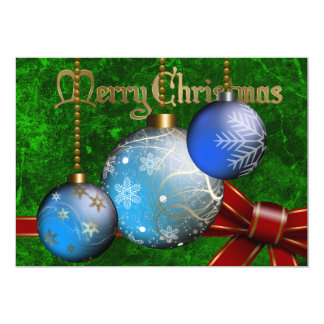 Bauble Christmas Invitation