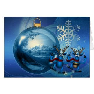 Bauble Ornament Reindeer Card
