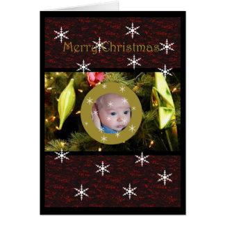 Bauble Window Christmas Card