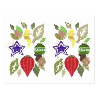 Bauble Wreath Postcard