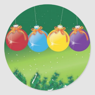 baubles classic round sticker