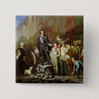 Baudin on the Barricade of Faubourg 2 Inch Square Button