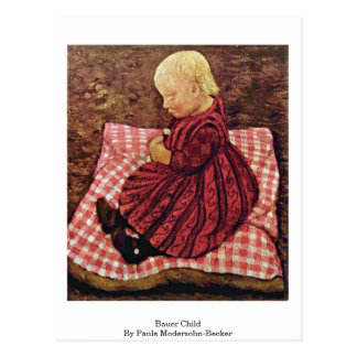 Bauer Child By Paula Modersohn-Becker Postcard