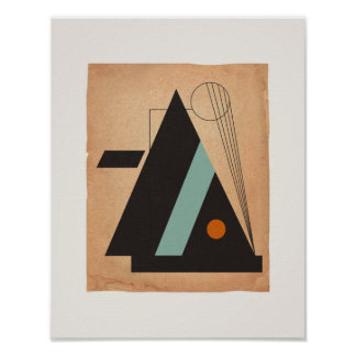 Bauhaus Abstract #3 Poster