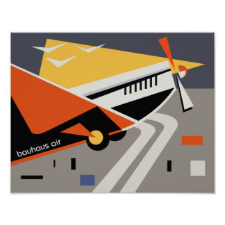 bauhaus airline travel poster