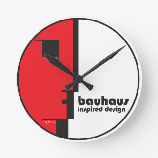 "BAUHAUS Classic Circle ""Lineface"" Profile Icon Wall Clock"