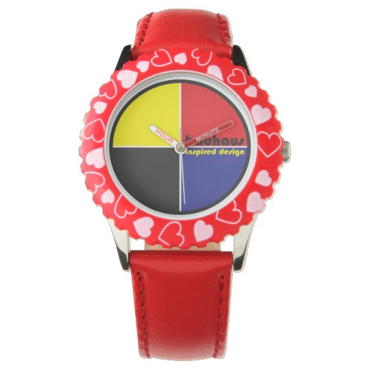 BAUHAUS Inspired Design Classic 4-colour QUAD Wristwatch