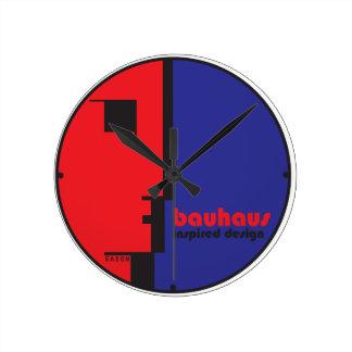 BAUHAUS Inspired Design Classic Line-Face ICON Clock