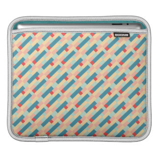 Bauhaus-inspired Geometric Pattern Turquoise & Red iPad Sleeve