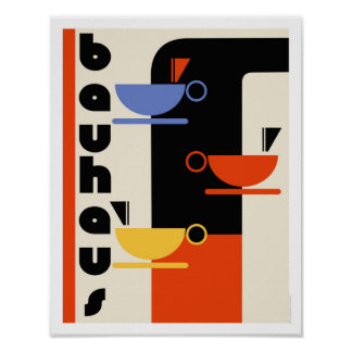 Bauhaus kitchen coffee art poster