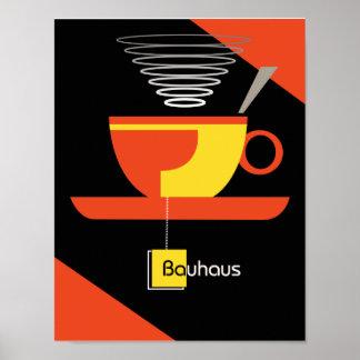 Bauhaus tea midcentury art deco poster