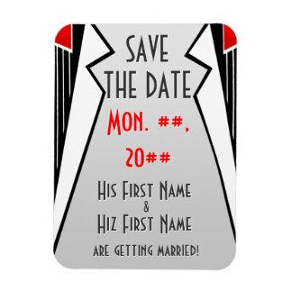 Bauhaus Tuxedo (Save The Date Magnet) Magnet